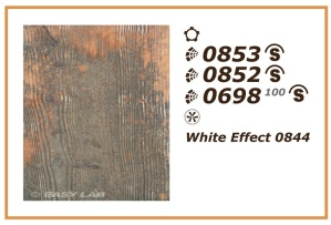 0853, 0852, and 0698 on Spruce / 100g with White Effect 0844