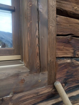 Italian Chalet Wood Window Cognac