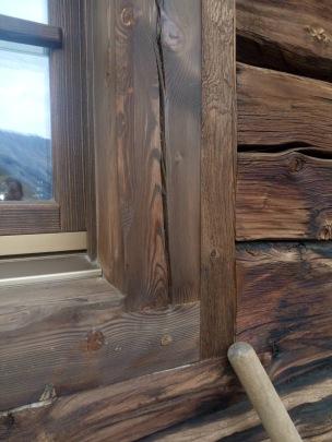 Italian Chalet Wood Window Cognac