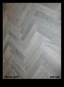 Oxidized Oak Herringbone Hardwood Floor - Easy Lab USA